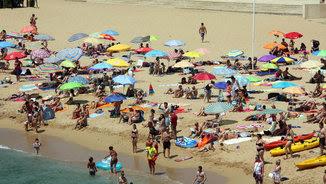 La platja de la Fosca de Palamós, en una foto d'arxiu (ACN)