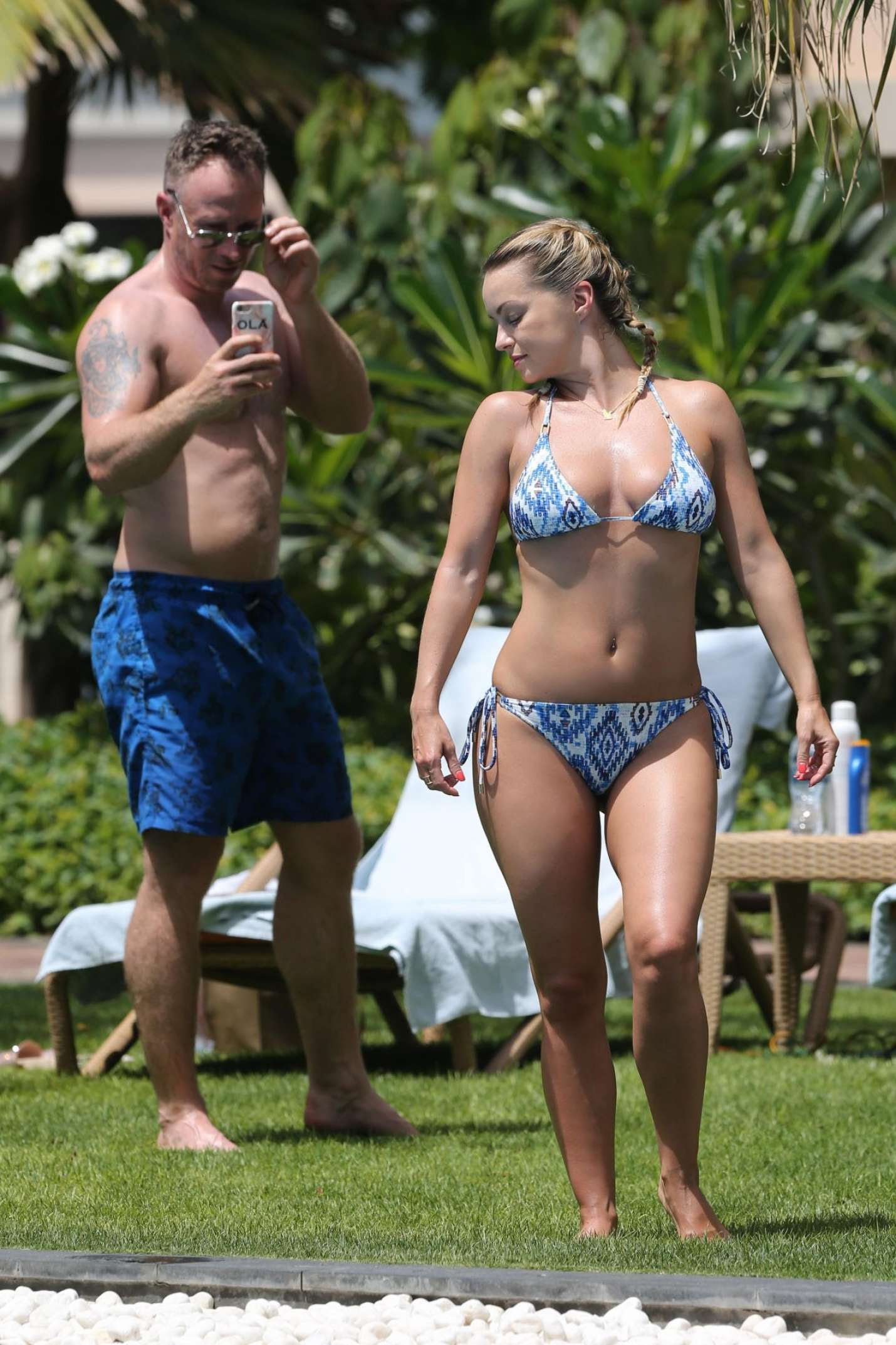 Ola Jordan in Bikini on the Poolside in Dubai