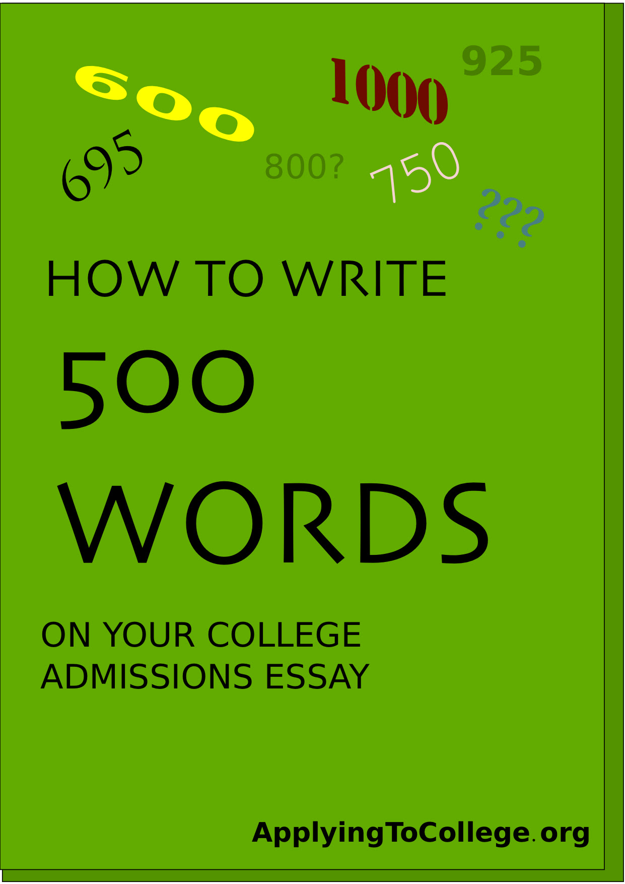 How to write a short essay 500 words