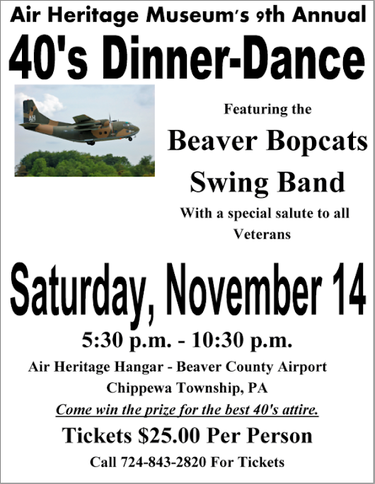 Air Heritage Museum's 9th Annual 40's Dinner Dance - Air Heritage Inc.