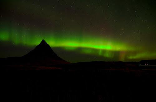 Norðurljós við Kirkjufell