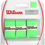 Wilson Pro Overgrip Perforated 3 Pack, Green