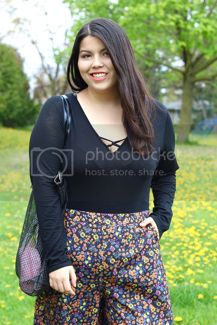 Simply Be plus size floral culottes crossbody suit plus size fashion canada toronto clothes and shit theinbetweenie jessica ip
