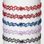 Tattoo Choker Necklace Set 5ct - Wild Fable , Women's, Multicolored