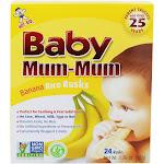 Hot Kid Baby Mum Mum Rice Rusks Teething Snacks Banana 24 Count