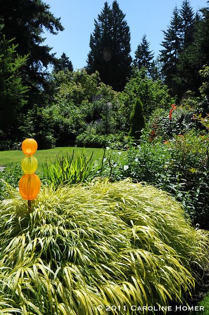 Japanese forest grass & glass art