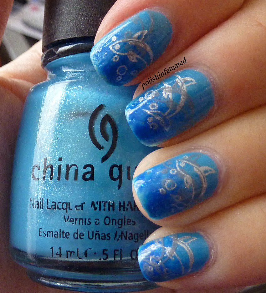 blue gradient with dolphin stamp3