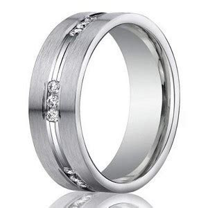6mm Men?s 950 Platinum Channel Set Diamond Wedding Ring