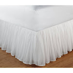 "Greenland Home Fashions Cotton Voile Bed Skirt 15"" Queen - White"