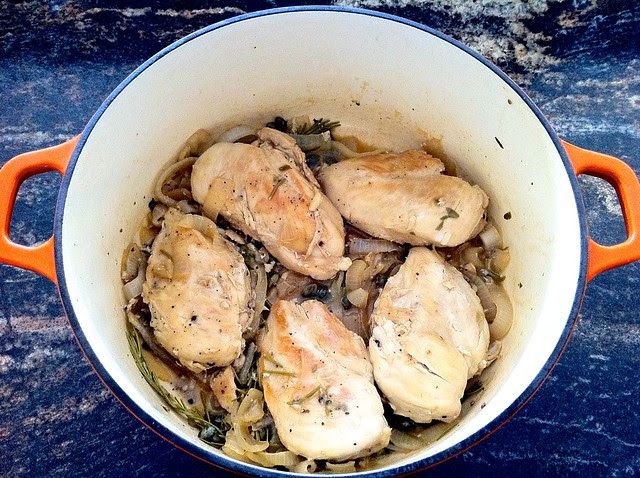 Chicken After Simmering