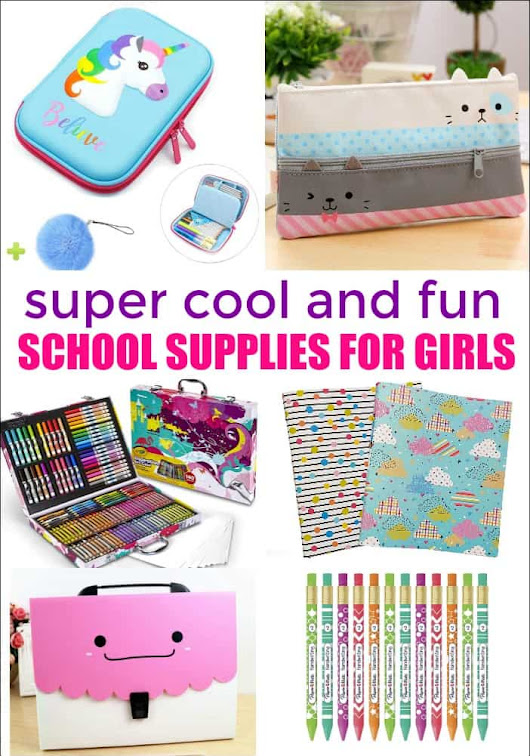 School Supplies for Girls - Mess for Less