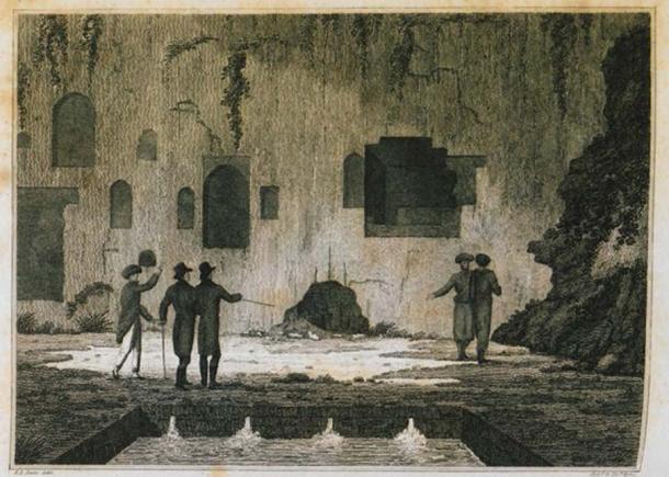 Interior do Oráculo de Trophonius em Livadeia.  (domínio público)