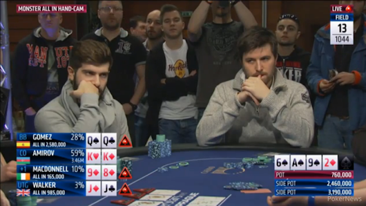 One of the Wildest Hands in EPT History That Results in Three-Player Elimination