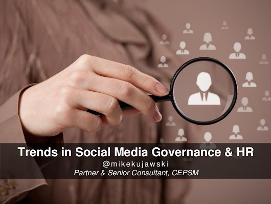 Trends in Social Media Governance and HR
