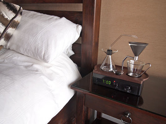 Alarm clock makes fresh coffee while you hit snooze