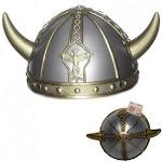 Boys Girls Childs Viking Saxon Celtic Warrior Fancy Dress Costume Helmet Hat