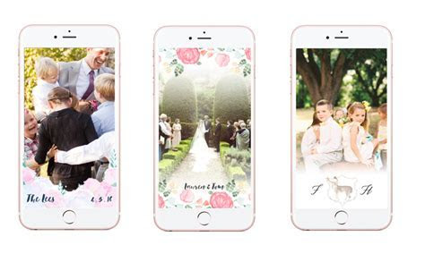 Watercolor Snapchat Geofilters for Weddings! ? Vie de Vic