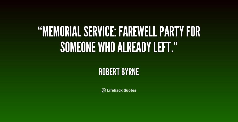 Memorial Service Quotes. QuotesGram