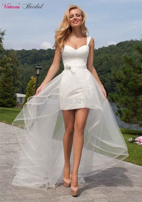 High Low Sheath Lace Straps Sweetheart Above Knee Short