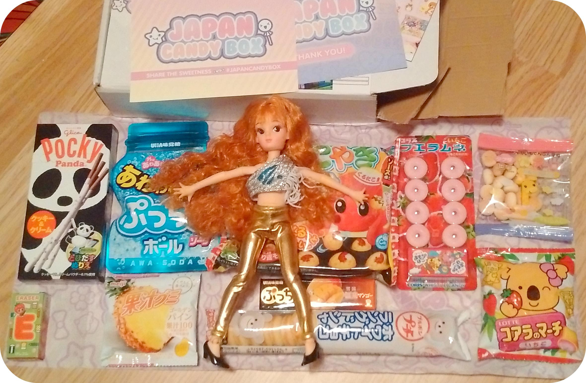 Licca doll with Blippo japan candy box