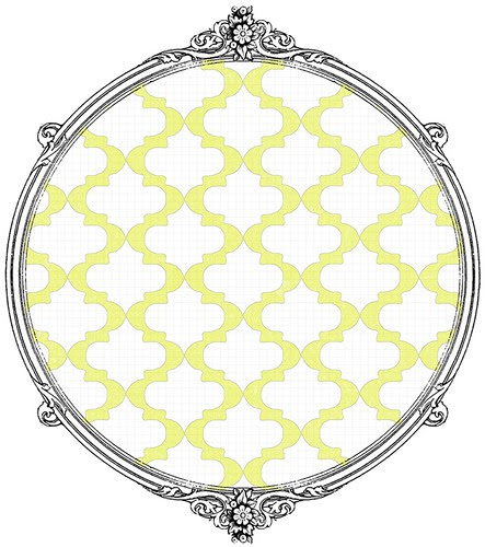 4 Chartreuse sketched Moroccan Tile - free printable paper SAMPLE