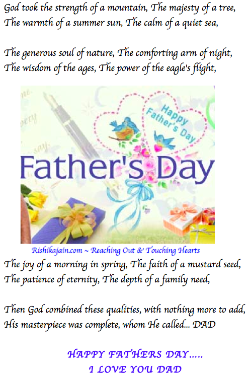 Happy Fathers Day Beautiful Thoughts Pictures Quotes Poem