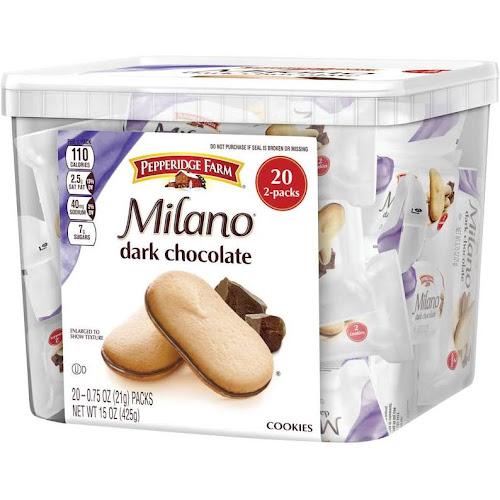 Pepperidge Farms Milano Cookies, Dark Chocolate - 20 count, 15 oz box