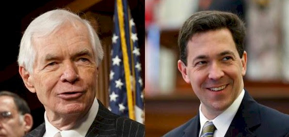 Sen. Thad Cochran, R-Miss, (left) and Chris McDaniels (right)