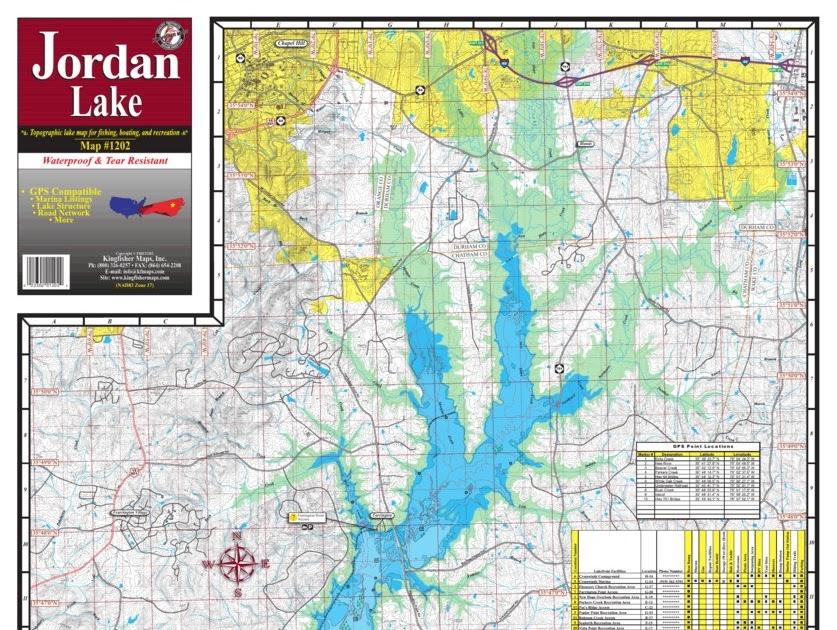 Jordan Lake Nc Map Global Map