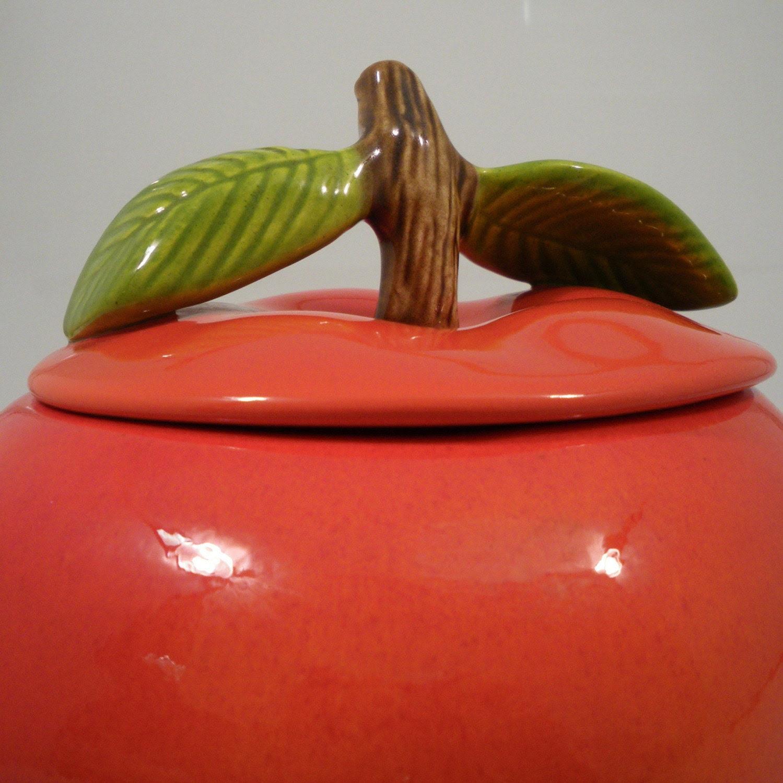 Vintage Big Mac Apple Cookie Jar USA Art Pottery