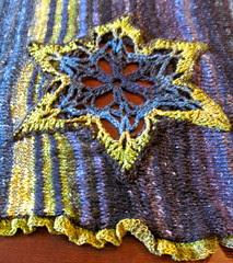 Edie shawl, detail