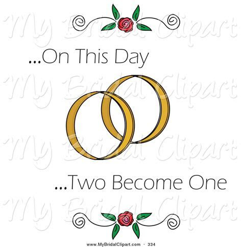 Ring clipart two   Pencil and in color ring clipart two