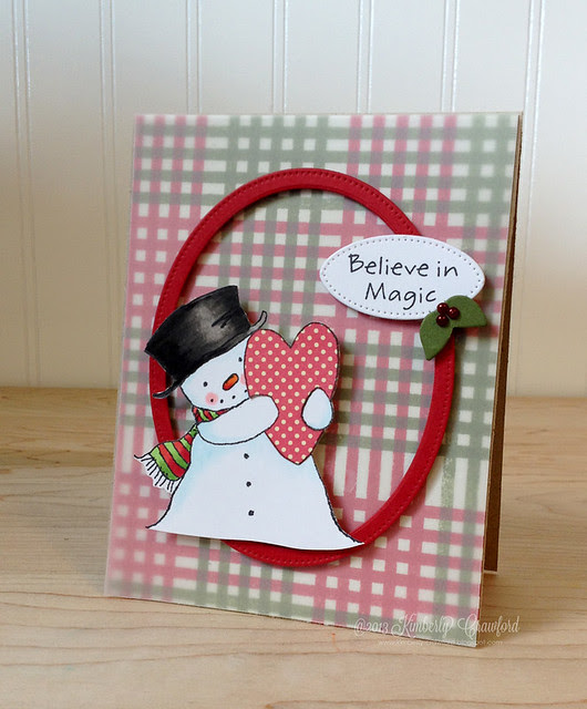 MFT Nov Preview happy heart snowman by Kimberly Crawford