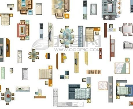 13 Tables And Chair Top View PSD Images  Plan View Photoshop Furniture, Furniture Top View 2D