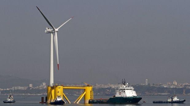La energía eólica también flota en el mar