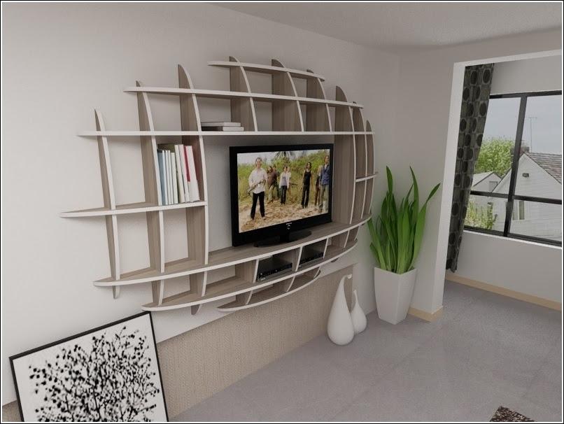 Modern 3d Shelf Unit for Your Living Room