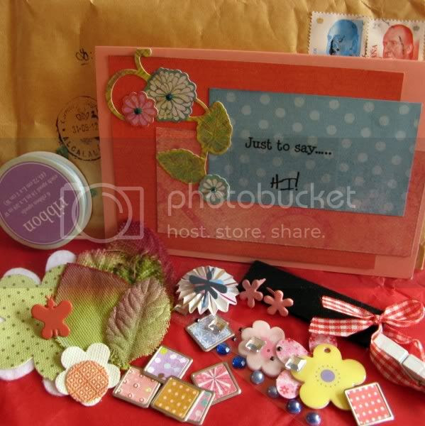 Happy mail with scrappy goodies