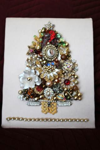 Melinda Jernigan Vintage Heirloom Jewelry Shadow Box
