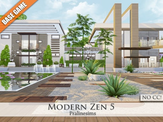 The Sims Resource: Modern Zen 5 by Pralinesims • Sims 4 Downloads