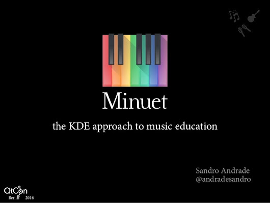 Minuet - the KDE approach to music education