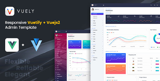 Vuely : Vuejs 2 Material Design Admin Template - Theme88.Com – Free Premium Nulled Cracked Themes & Plugins & PHP Scripts and More