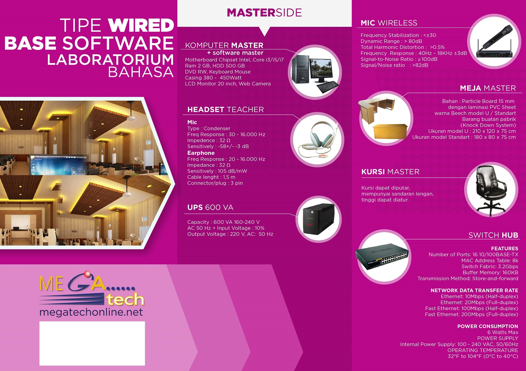 Laboratorium Bahasa Base Software WIRED Master Lab Bahasa