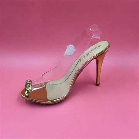 2016 Real Gold Wedding Bridal Shoes Kim Kardashian Sandal