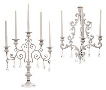Midnight Candelabra & Sconce - White - modern - candles and candle ...