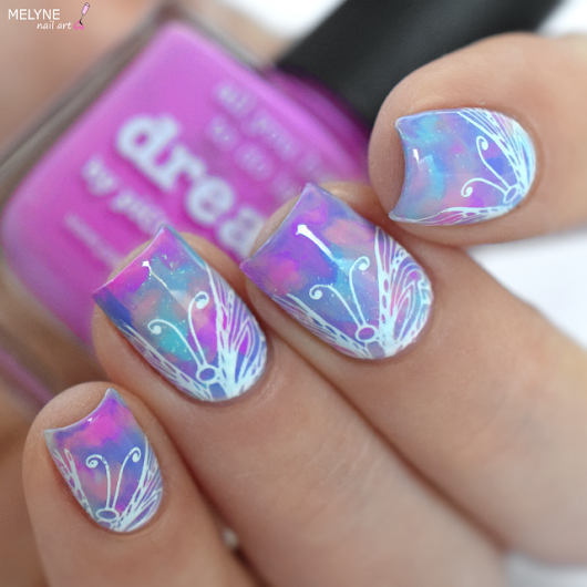 Nail Art Dry Marble couleur Licorne + TUTORIAL