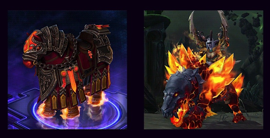 "Primal Flamesaber WoW Mount from ""For Azeroth"" Heroes of the Storm Event"