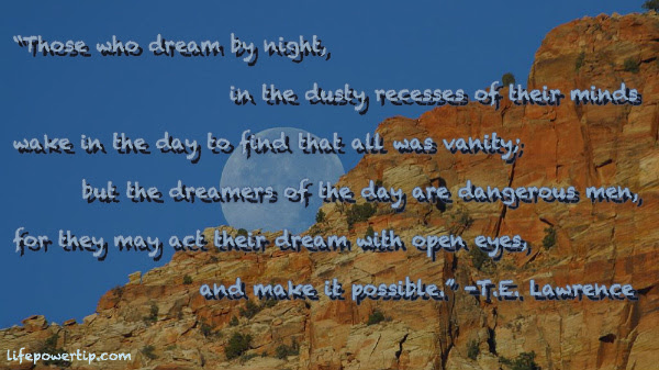 Day Dreamers Inspiring Article And Image Of Life Power Tip Quote