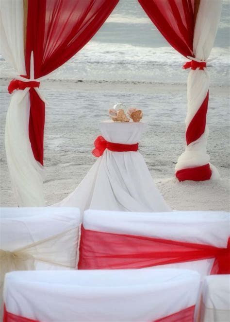 Florida beach wedding themes   Romantic Red   Suncoast