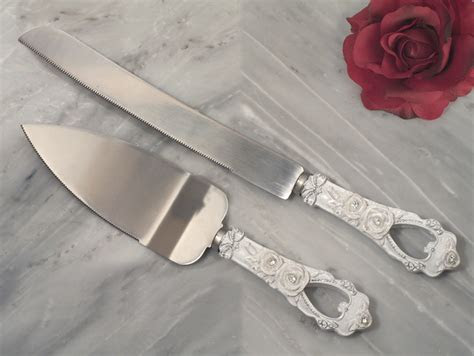Elegant Rose collection Cake and Knife set
