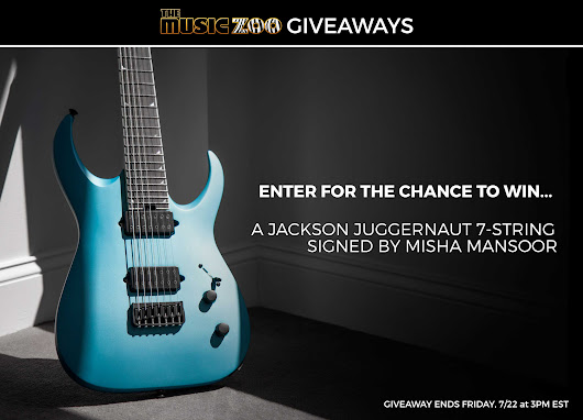Enter to Win a Jackson Juggernaut 7 String Signed by Misha Mansoor of Periphery!